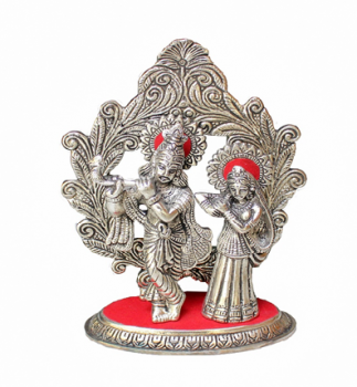 Oxidized Metal Radha Krishna Oval Idol Digin Your Market Is Here