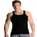 Jockey Black Square Neck Vest