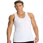Jockey White Racer Back Shirt