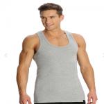 Jockey Grey Melange Racer Back Shirt