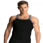 Jockey Black & Grey Melange Vest