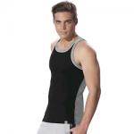 Jockey Black & Grey Melange Fashion Power Vest