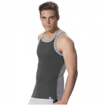 Jockey Charcoal Melange & Grey Melange Fashion Power Vest
