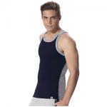 Jockey Navy & Grey Melange Fashion Power Vest