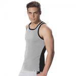 Jockey Grey Melange & Black Fashion Power Vest