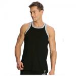 Jockey Men Black & Grey Melange Fashion Power Vest