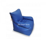 Bean Chair with Arms Premium Blue