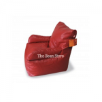 Bean Chair with Arms Premium Red