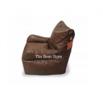 Bean Chair with Arms Premium Chestnut