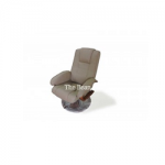 Rest Chair With Ottoman Artificial Leather