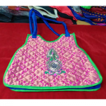 Pink Bag with Green Boarder