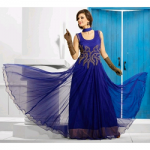 Tanuzstore Flamboyant Blue Party Wear Gown