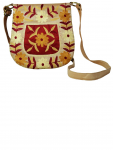 Pooam's carry-a-way Aari work sling small gold Bags