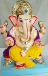 Eco Friendly (Shadu Mati) Ganapati 12 inch