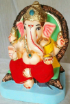 Eco Friendly(Shadu Mati) Ganapati Idol  6 inch