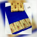 Niks Creation Designer Blue Silk Saree