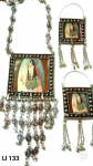 Navaratri Special Oxidized German Silver Necklace With Earrings