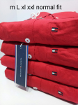 Tommy Hilfiger Red Cotton Shirt Size - XL