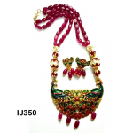 Kundan Beads Necklace Set With Earring