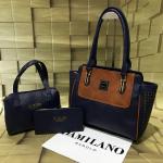 Da Milano Combo Pack Of 3 Bag-Dark Blue