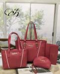 Zara Maroon Tote Handbag (Set of 4)