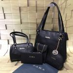 ZARA Combo Pack Of 5 in 1 Handbag-Black