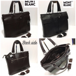Mont Blanc Black Laptop Bag