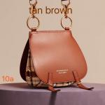 Burberry Cross Body Shoulder Bag-Tan Brown