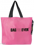 Trendy Pink Plastic Shopping Bag
