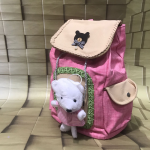 Sweet Looking Pink Teddy Bear Style Backpack for Kids