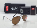 Ray-Ban Aviator Metal Sunglasses (Brown)