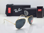 Ray-Ban Aviator Silver Frame Sunglasses (Blue)