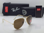 Ray-Ban Aviator Golden Frame Sunglasses (Brown)