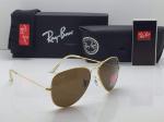 Ray-Ban Aviator Golden Frame Sunglasses (Brown)