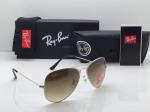Ray-Ban Silver Frame Sunglasses (Brown)