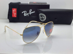Ray-Ban Aviator Golden Frame Sunglasses (Blue)