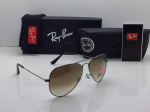 Ray-Ban Aviator Black Frame Sunglasses (Brown)