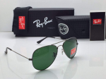 Ray-Ban Aviator  Sunglasses Black Frame (Green)