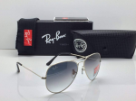 Ray-Ban Aviator Silver Frame Sunglasses- (Blue)