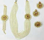 Pleasing Pearl Long Haram With Armlet