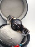 Rado Black Dial & Gold And Brown -Toned Watch For Women