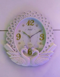 Home Decorative Silver Wall Clock