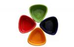Stonish ceramic handmade Dip bowl set of 4 in Multi colour.
