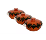 Donga set in royal brown colour with black Eg...