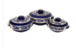 Donga set in royal dark blue and white colour...