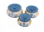 Handi set in royal blue and white colour with...