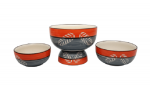 Stonish ceramic handmade serving bowl set of ...