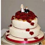 CakesnCakes Wedding Cake 2 Tier 2 Kg