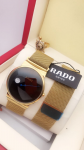 Rado Black Dial & Golden Watch For men