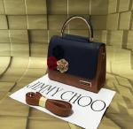 Jimmy Choo Brown& Blue Mini Bag